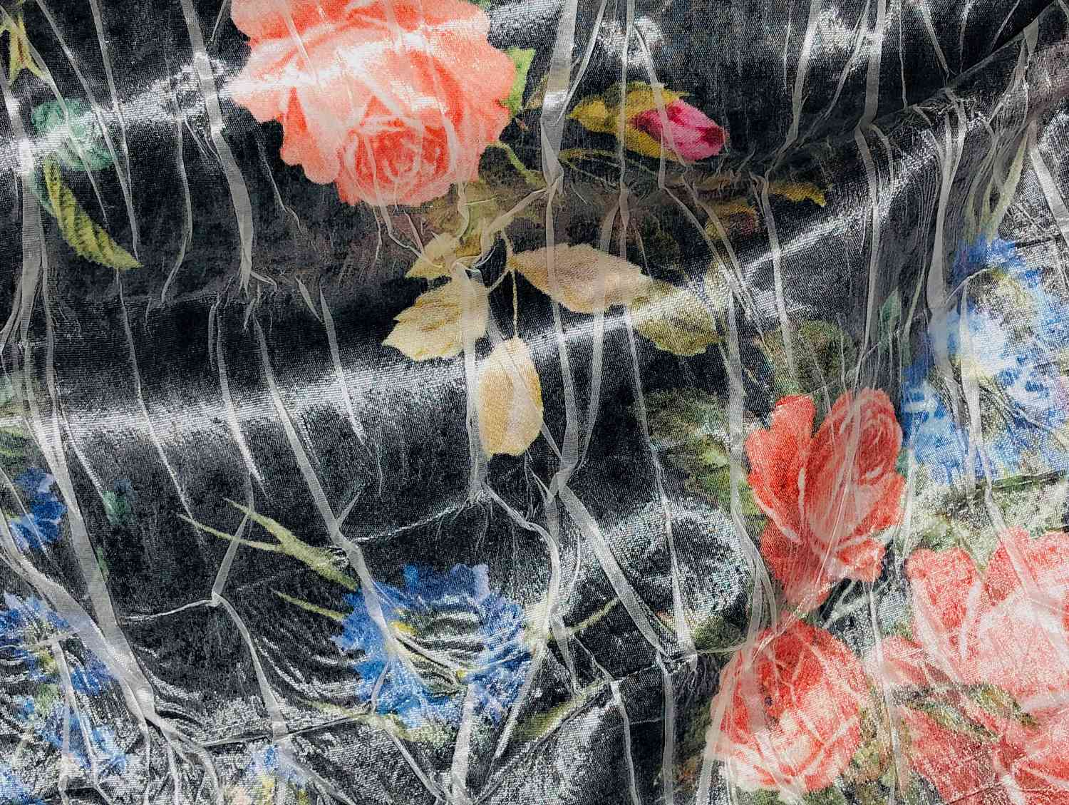 Printed Fabrics - satinude - SATINUDE Viscose Polyester Silk