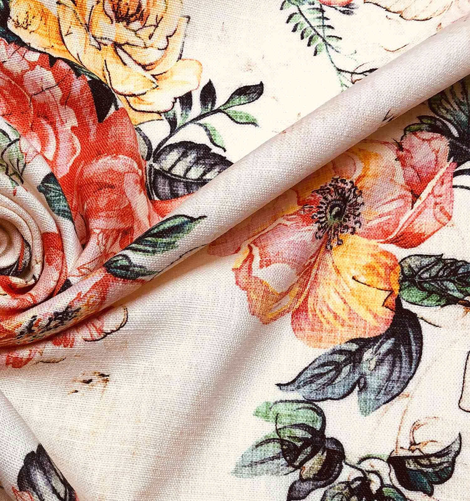Printed Fabrics - linone - LINONE Linen