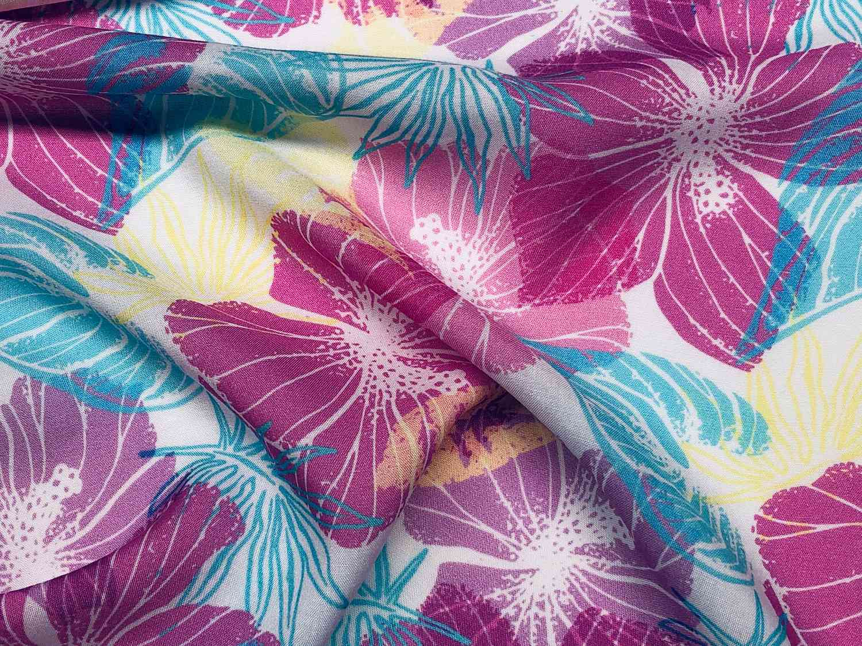 Printed Fabrics - mussola viscose - MUSSOLA VISCOSE Viscose