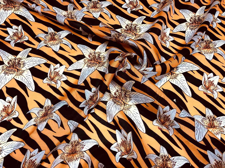 Printed Fabrics - magma - MAGMA Cupro