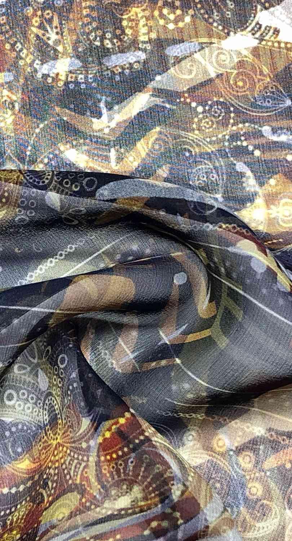 Printed Fabrics - silk georgette 10mm - SILK GEORGETTE 10MM Silk