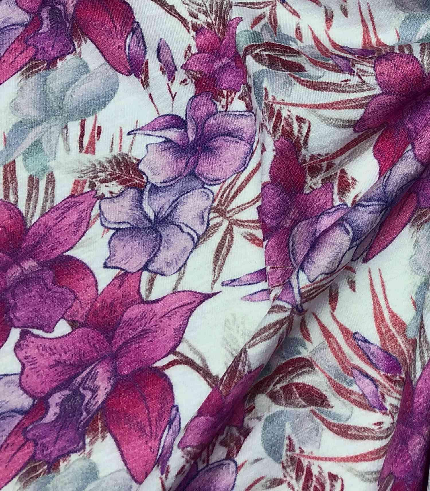 Printed Fabrics - viscose shantung - VISCOSE SHANTUNG Viscose Elastan
