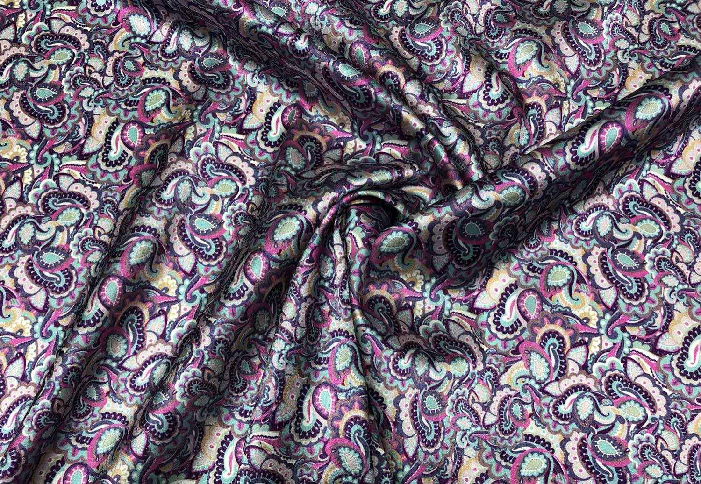 Printed Fabrics - silk satin stretch 16mm - SILK SATIN STRETCH 16MM Silk Elastan