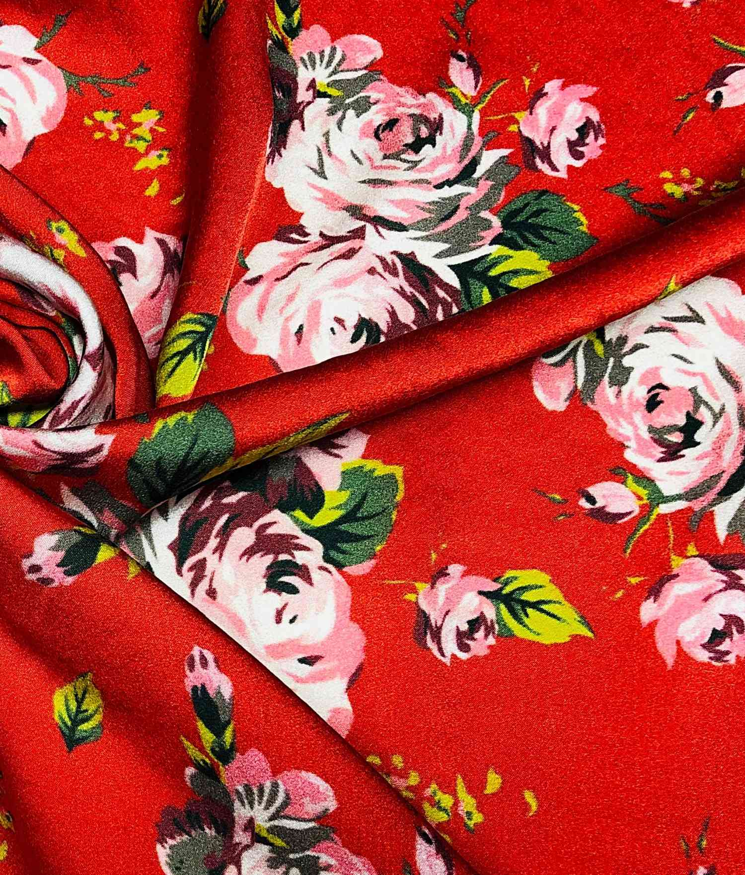 Printed Fabrics - monza new sateen 14mm - MONZA NEW SATEEN 14MM Elastan Silk